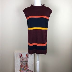 LOFT | Color Block Sleeveless Long Tunic Sweater M